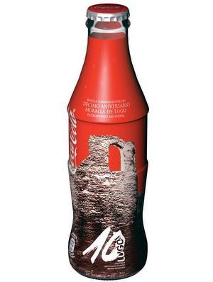 Botella Coca Cola Muralla de Lugo