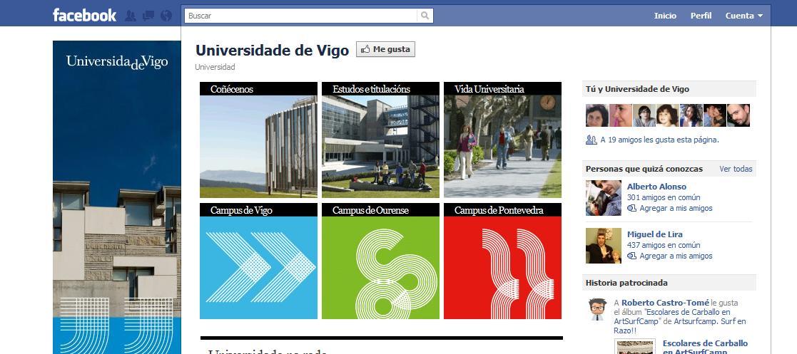 Facebook Universidad de Vigo