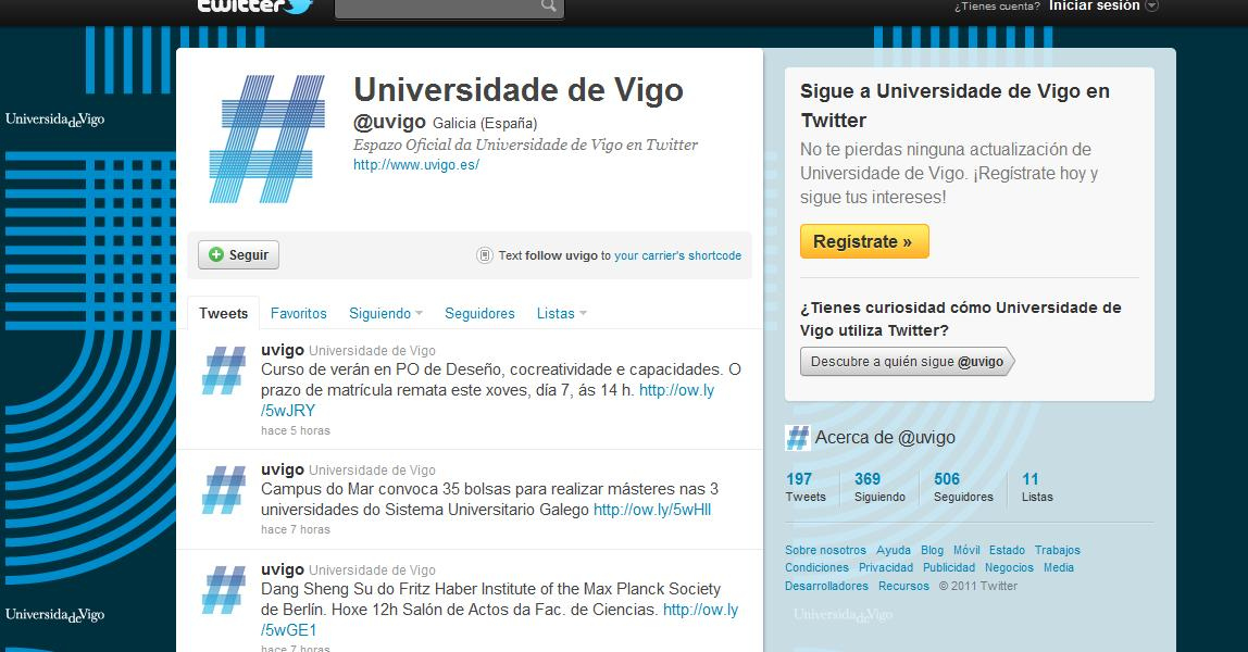Twitter Universidad de Vigo