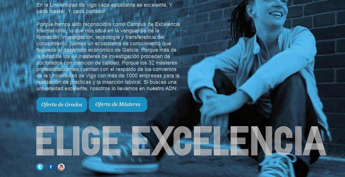 Web Campaña Universidad de Vigo