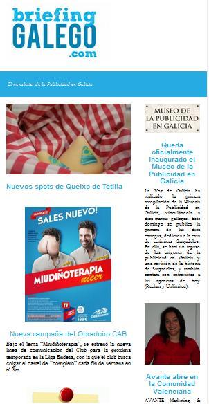 Newsletter Briefing Galego