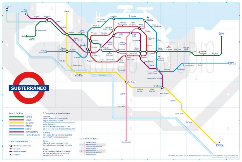 Mapa de Metro de Vigo