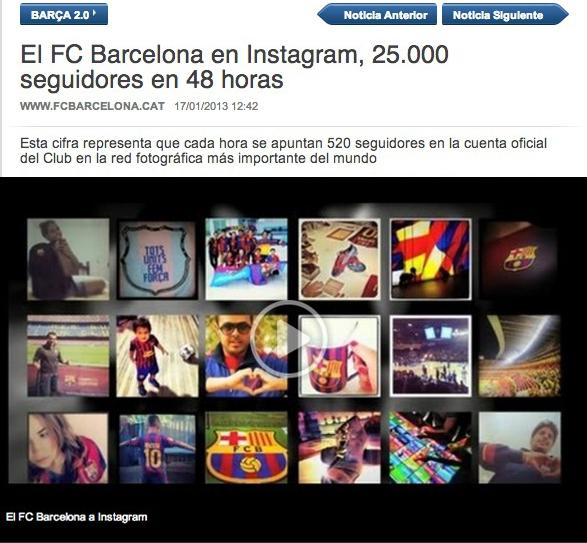 FC Barcelona Instagran