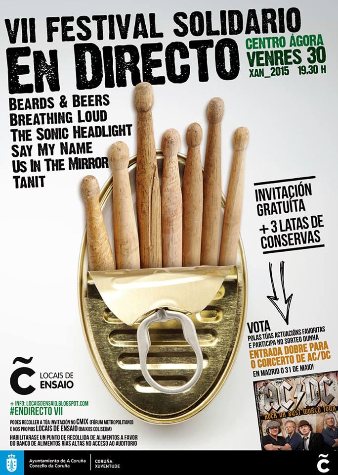cartel festival solidario en directo