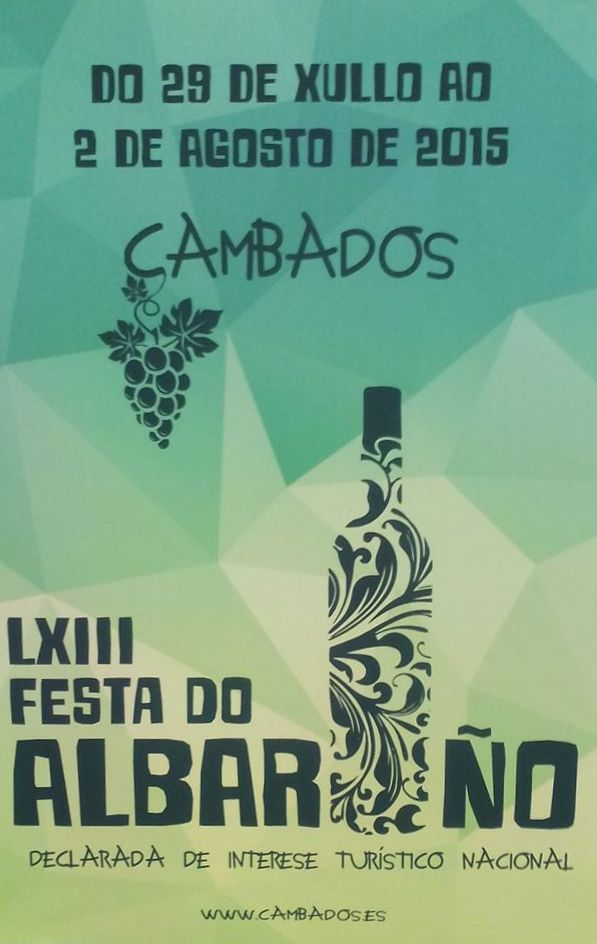 Cartel festa do albariño 2015