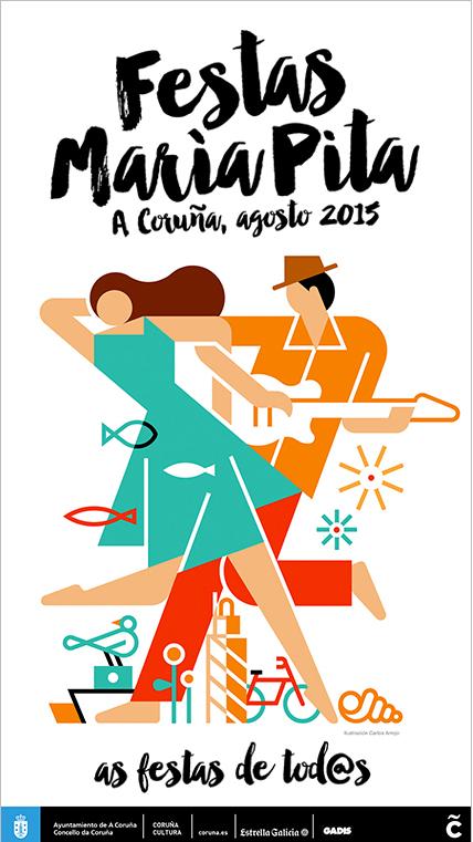 fiestas maría pita 2015