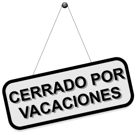 Cerrado x Vacaciones