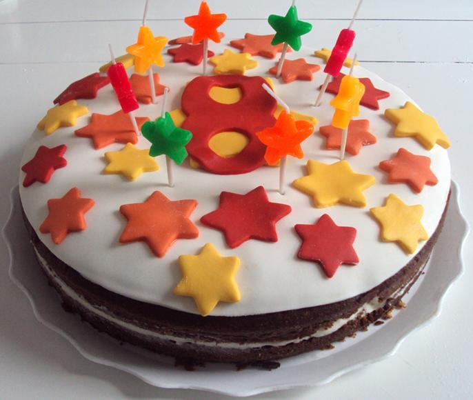 8 años tarta