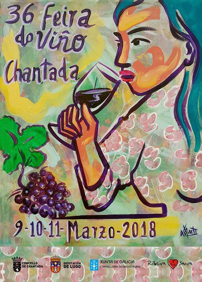 cartel feira viño chantada 18