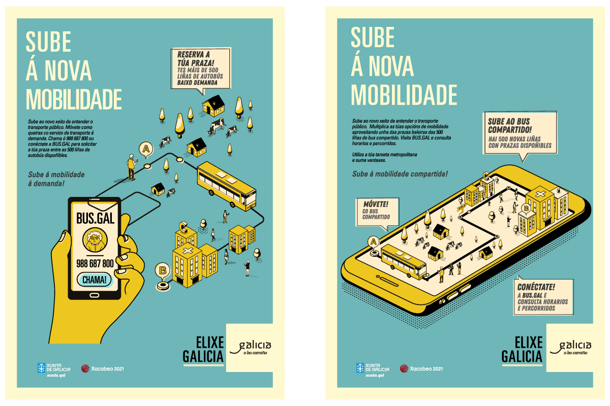 Campaña Xunta de Galicia Transporte