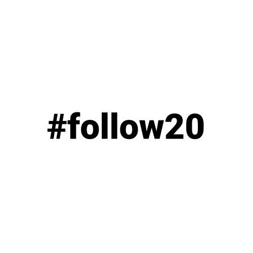 #follow20